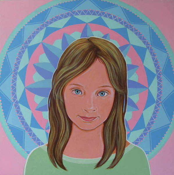 Painting - Girl And Mandala 2 by Jovana Kolic