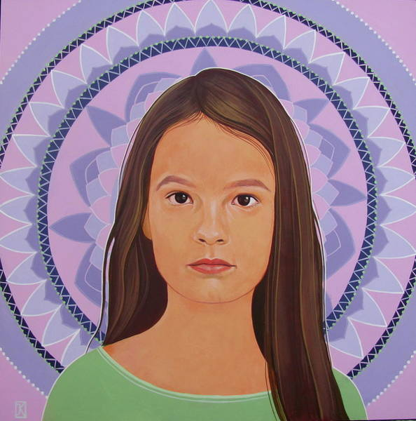 Painting - Girl And Mandala  by Jovana Kolic