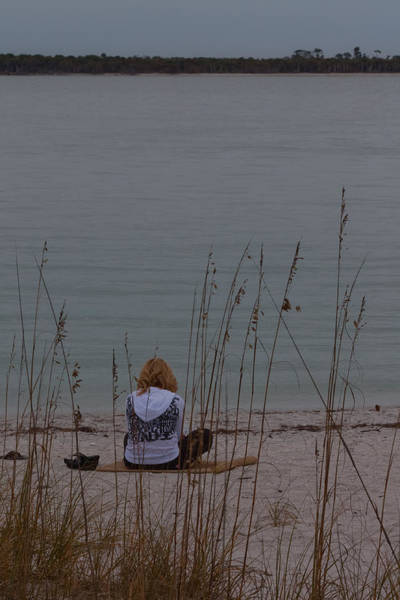Photograph - Girl At Beach by Ed Gleichman