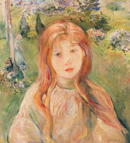 Strawberry Fields Wall Art - Painting - Girl At Mesnil by Berthe Morisot
