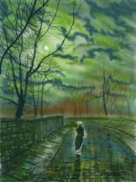 Painting - Girl Bymoonlight by Glenn Marshall