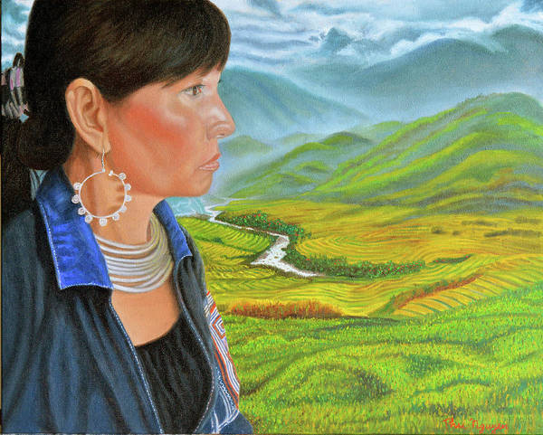 Painting - Girl From Sapa by Thu Nguyen