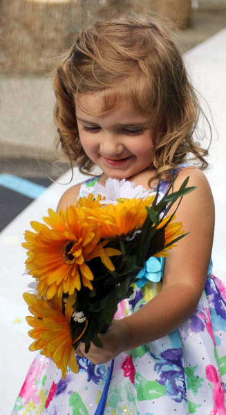 Photograph - Girl In A Flowered Dress by Jennifer Robin