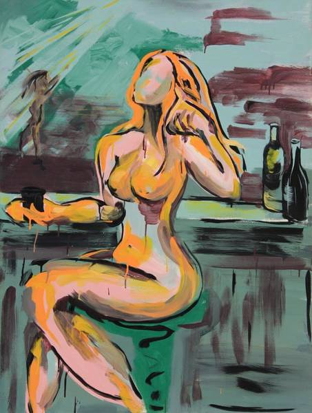 Susi Wall Art - Painting - Girl In A Glass # 9 by Susi LaForsch