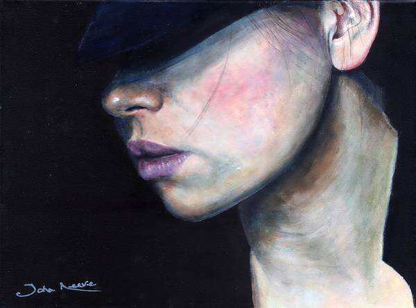 Painting - Girl In Black Hat by John Neeve