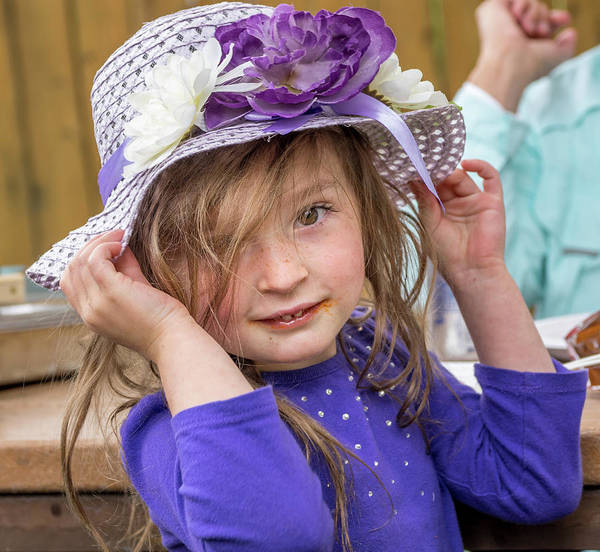 Photograph - Girl In Purple Hat by Martin Gollery
