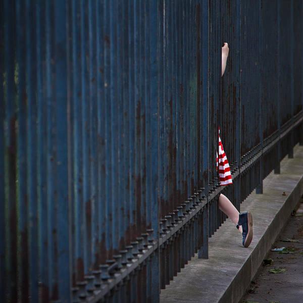 Veronica Photograph - Girl In Striped Red Dress by Veronica Gonzalez Vanek