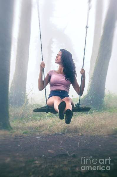 Wall Art - Photograph - Girl In Swing by Carlos Caetano