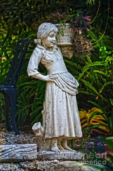 Wall Art - Photograph - Girl In The Garden - Sintra by Mary Machare