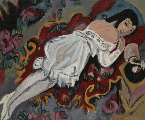 Painting - Girl In White Chemise by Ernst Ludwig Kirchner