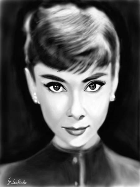 Painting - Girl No.204 Audrey Hepburn by Yoshiyuki Uchida
