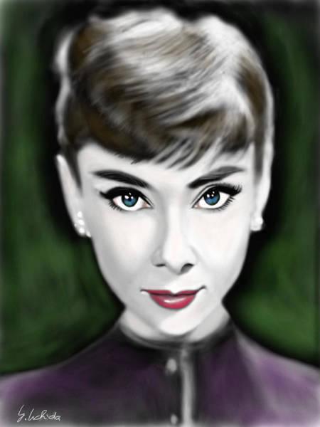 Painting - Girl No.205 Audrey Hepburn by Yoshiyuki Uchida