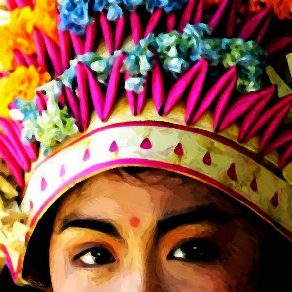 Girl Of Bali Art Print