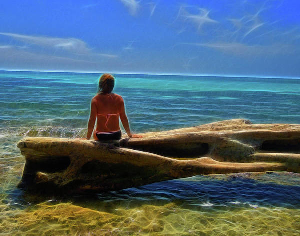 Photograph - Girl On A Log by Coleman Mattingly