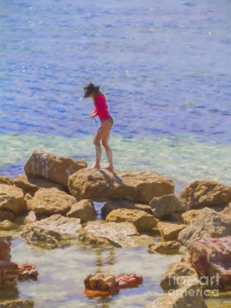 Photograph - Girl On A Rock by Elaine Teague