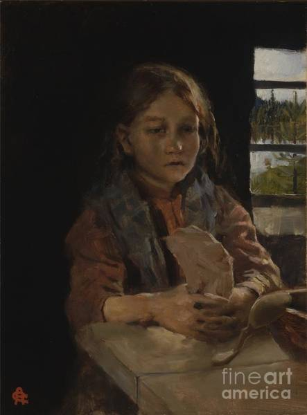 Painting - Girl Singing The Bark Bread Song by Celestial Images