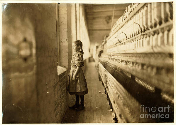 Painting - Girl Spinner by Lewis Hine