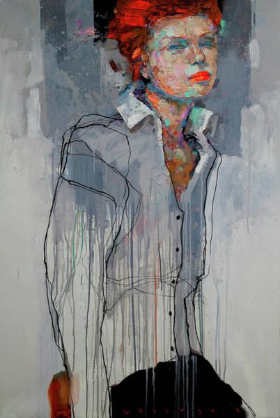 Wall Art - Painting - Girl - Spring by Viktor Sheleg