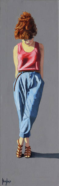 Painting - Girl Standing by Kevin Hughes