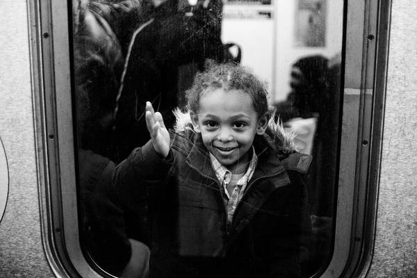Photograph - Girl Subway Window by Dave Beckerman