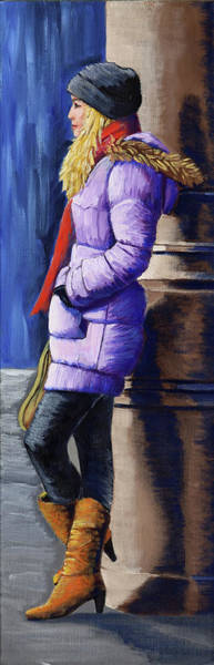 Painting - Girl Waiting by Kevin Hughes