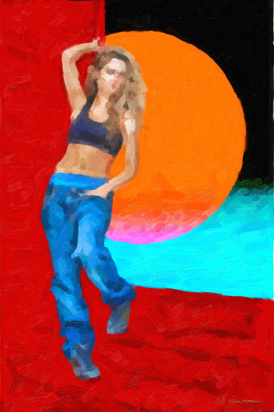 Digital Art - Girl Wearing Blue Jeans by Serge Averbukh