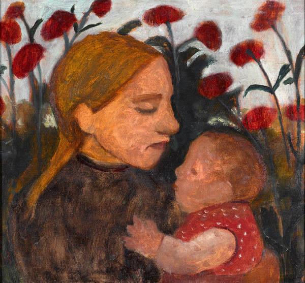 Paula Wall Art - Painting - Girl With Child by Paula Modersohn-Becker