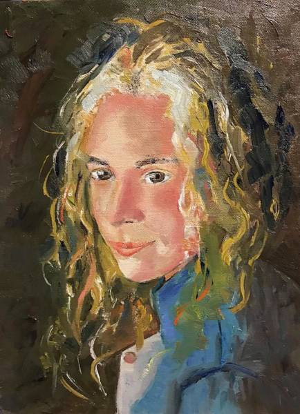 Painting - Girl With Curls by Judith Visker