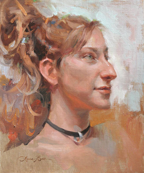 Model Painting - Girl With Dreadlocks by Anna Rose Bain
