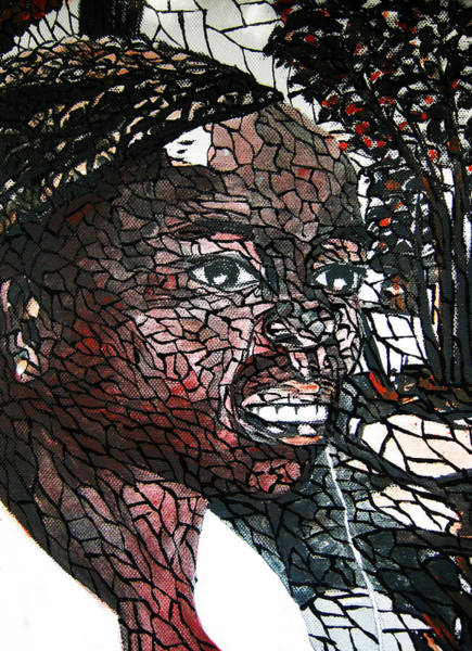 Plaits Painting - Girl With Earphone 1 by Simon Wairiuko