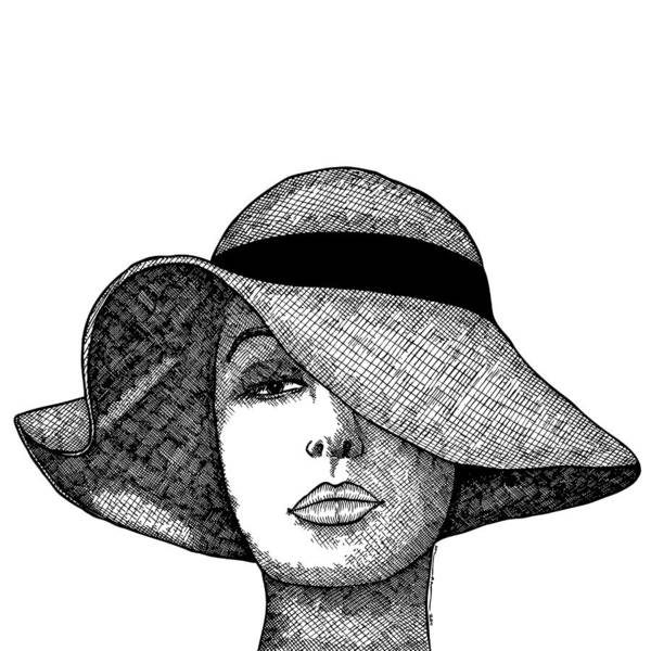 Girl With Fancy Hat Art Print by Karl Addison