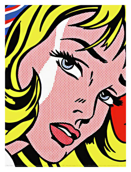 Wall Art - Painting - Girl With Hair Ribbon By Roy Lichtenstein by Long Shot
