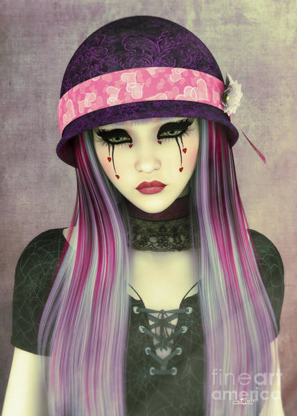 Digital Art - Girl With Hat by Jutta Maria Pusl