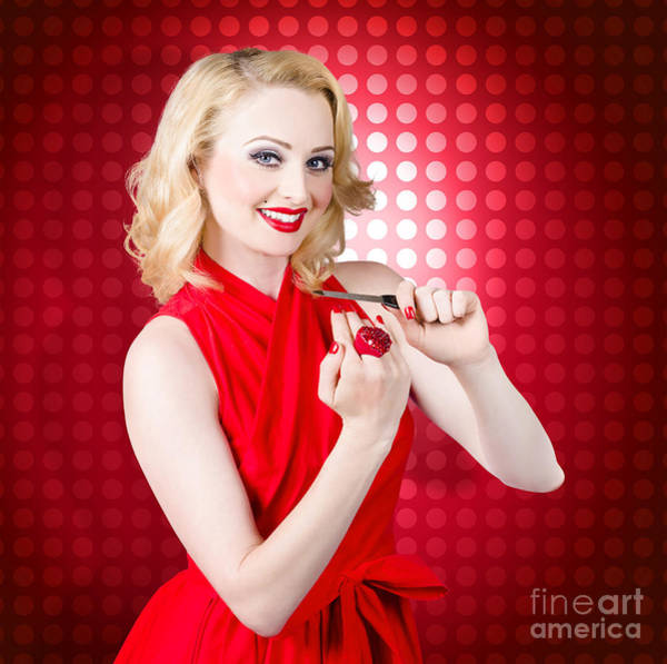 Manicure Wall Art - Photograph - Girl With Nail File. Shaping Nails For Manicure by Jorgo Photography - Wall Art Gallery