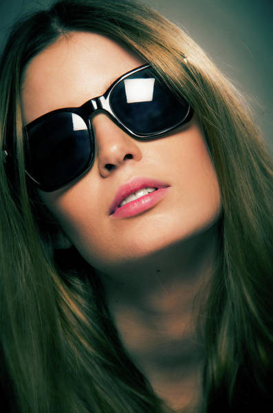 Youth Photograph - Girl With Sunshades by Carlos Caetano