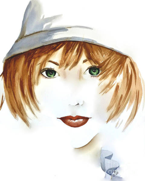 Painting - Girl With The Cloche Hat by Michal Madison