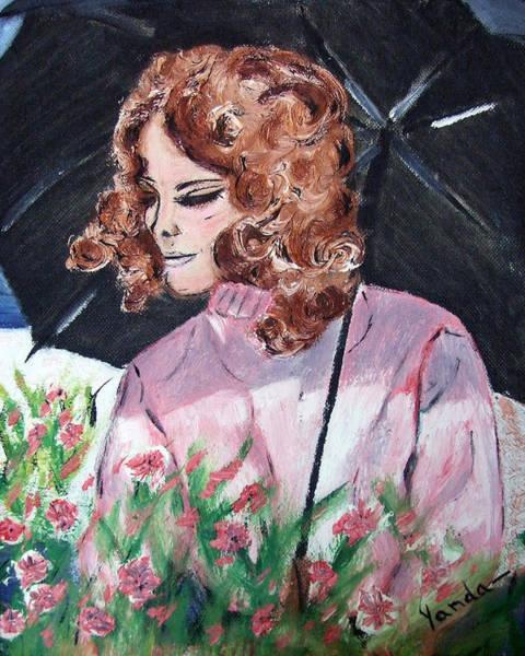 Painting - Girl With Umbrella by Katt Yanda