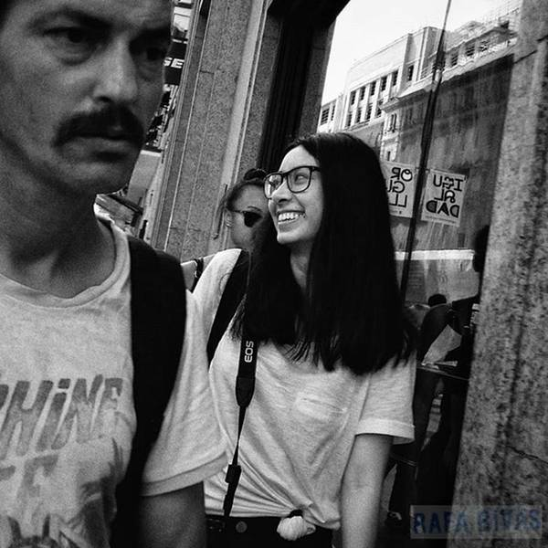 Wall Art - Photograph - #girl #woman #smile #glasses #fashion by Rafa Rivas