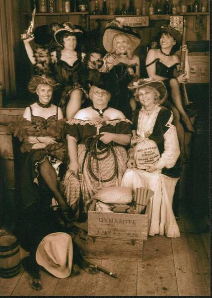 Western Costume Photograph - Girlfriends by Helen Carson