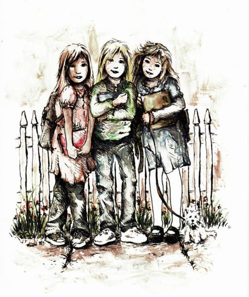 Magical Drawing - Girlfriends by Rachel Christine Nowicki