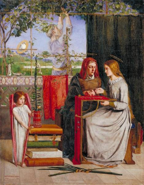 Gabriel Painting -  Girlhood Of Mary Virgin by Dante Gabriel Rossetti