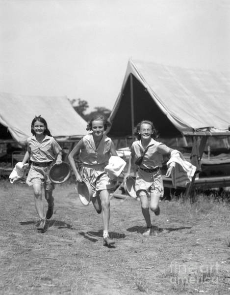 Exuberance Photograph - Girls At Summer Camp, C.1930s by H. Armstrong Roberts/ClassicStock