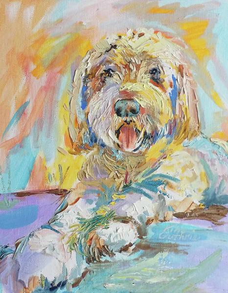 Wall Art - Painting - Girls Best Friend Pet Portrait by Kim Guthrie