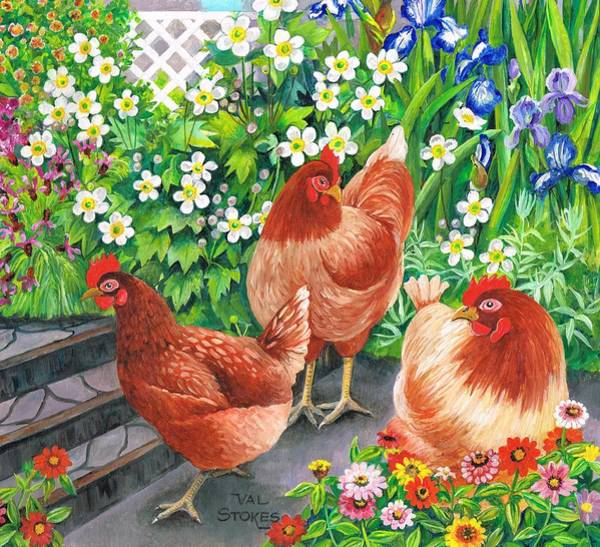 Painting - Girls Day Out. by Val Stokes