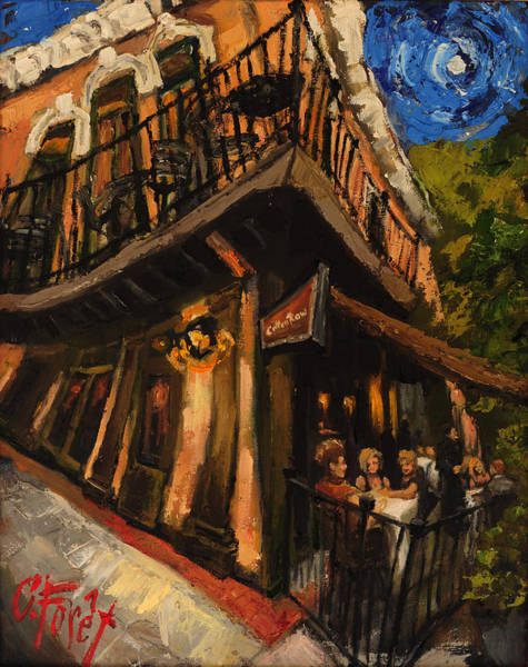 Wall Art - Painting - Girls Night At Cotton Row by Carole Foret