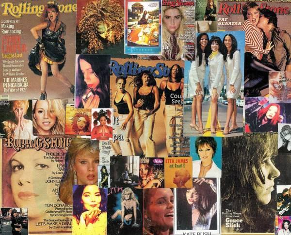 Phoebe Digital Art - Girls Of Pop And Rock 1 Collage by Doug Siegel