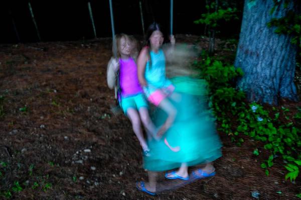 Photograph - Girls On Swing by M G Whittingham