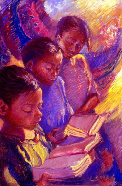 Painting - Girls Reading by Ellen Dreibelbis
