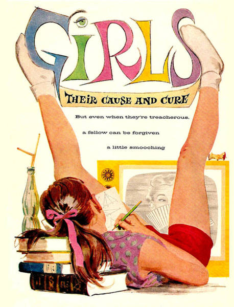 Wall Art - Mixed Media - Girls, Their Cause And Cure by Long Shot