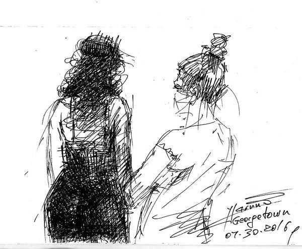 Beautiful Drawing - Girls by Ylli Haruni